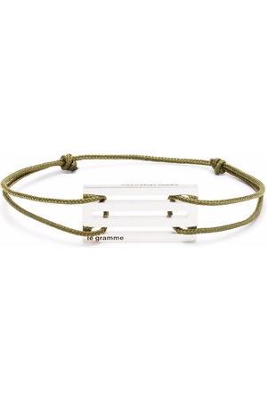Le Gramme Punched cord bracelet