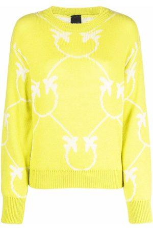 Pinko Logo-print knitted jumper
