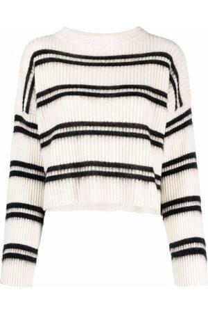 Pinko Damen Strickpullover - Striped knit jumper
