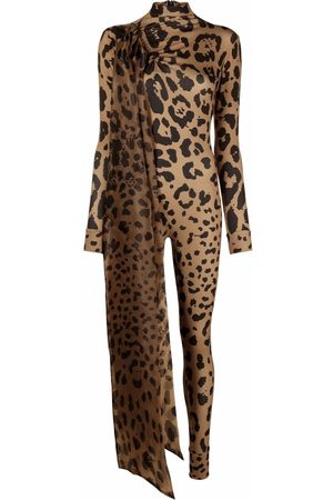 Atu Body Couture Leopard-print bodycon jumpsuit