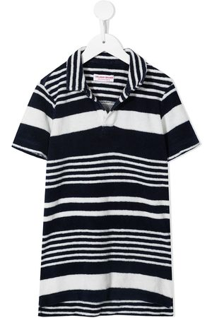 Orlebar Brown Jungen Poloshirts - Striped longline cotton polo top