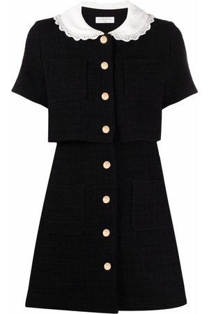 Sandro Contrast-collar short dress