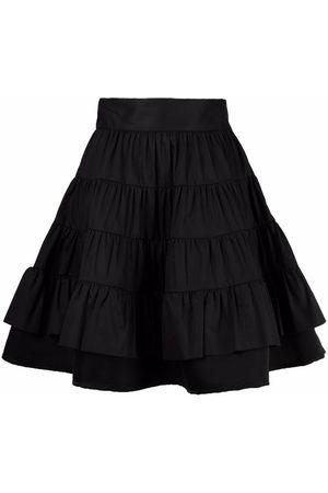 Sandro Ruffled A-line skirt