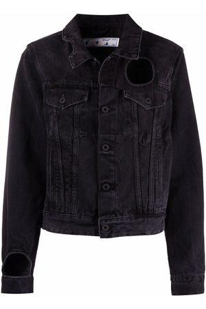 OFF-WHITE Damen Jeansjacken - Meteor cut-out denim jacket