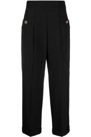 Sandro High-waisted cropped trousers