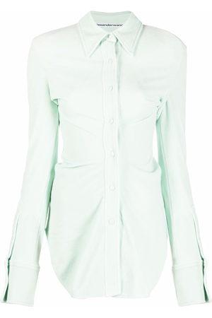 Alexander Wang Damen Shirts - Long-sleeved velvet shirt
