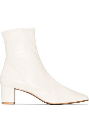 By Far Sofia 50mm leather ankle boots