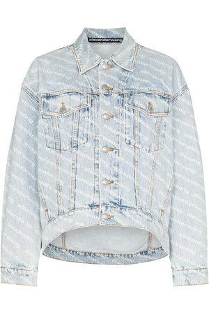 Alexander Wang Damen Jeansjacken - Falling Back logo-print denim jacket