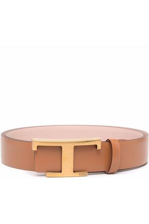 Tod's Logo-buckle leather belt