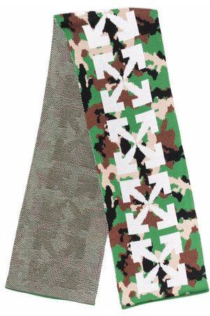 Off-White Kids Arrows-motif camouflage-pattern scarf