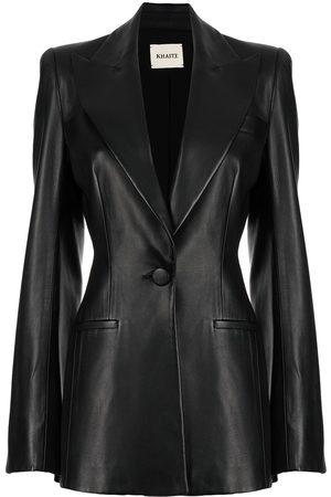 Khaite Damen Lederjacken - Blondie leather blazer