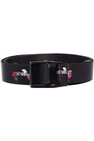 Off-White Kids Floral logo-print belt