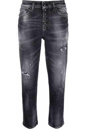 Dondup Damen Jeans - Distressed cropped jeans