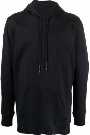 11 BY BORIS BIDJAN SABERI Sweatshirts - Longline cotton-blend hoodie