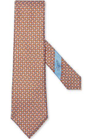 Ermenegildo Zegna Herren Krawatten - Leaf-print silk tie