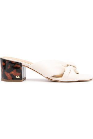 Michael Kors Damen Clogs & Pantoletten - Jolie block-heel leather mules