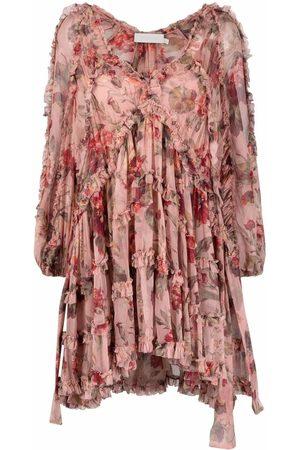 ZIMMERMANN Damen Freizeitkleider - Ruffled-trim floral smock dress