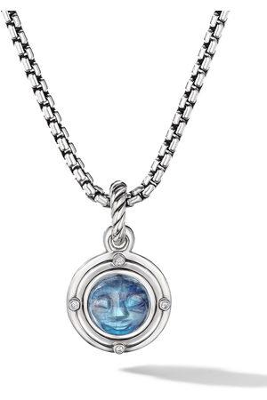 David Yurman Damen Broschen - Sterling silver moonstone and diamond amulet