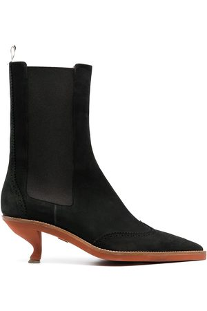 Thom Browne Damen Stiefeletten - Brogued wing-tip chelsea boot with sculpted heel