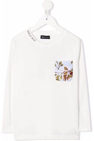 MONNALISA Acorn logo-print long-sleeve top