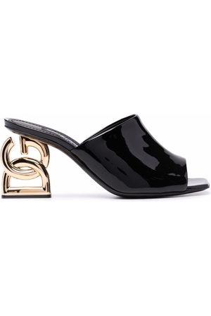 Dolce & Gabbana Damen Clogs & Pantoletten - Monogram heel mules