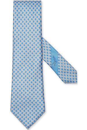 Ermenegildo Zegna Leaf-print silk tie