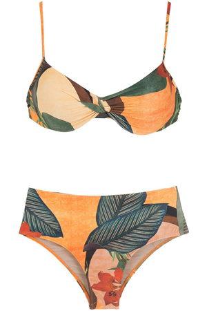 Lygia & Nanny Veronica leaf-print bikini