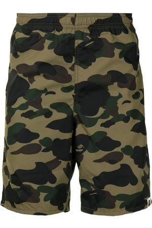 A Bathing Ape Camouflage-print cotton track shorts