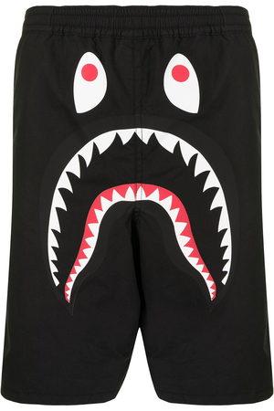 A Bathing Ape Shark-print track shorts