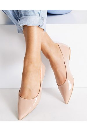 ASOS Lucky pointed ballet flats in -Neutral