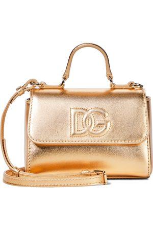 Dolce & Gabbana Schultertasche aus Metallic-Leder