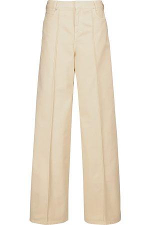 Victoria Victoria Beckham High-Rise Jeans mit weitem Bein
