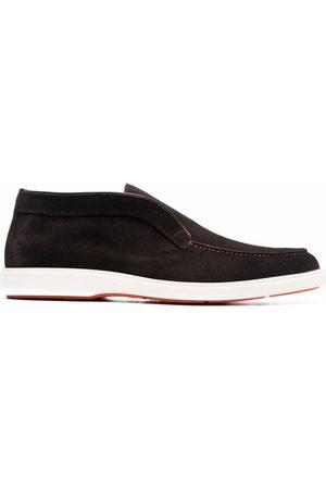 santoni Pol Elast leather loafers