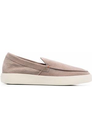 santoni Herren Halbschuhe - Backdrop leather loafers