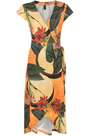 Lygia & Nanny Falcão floral-print wrap dress
