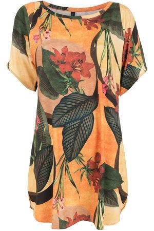 Lygia & Nanny Damen Bedruckte Kleider - Floral leaf print T-shirt dress