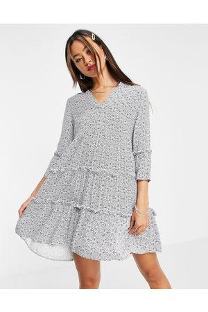VERO MODA Damen Freizeitkleider - Smock dress in print-Navy