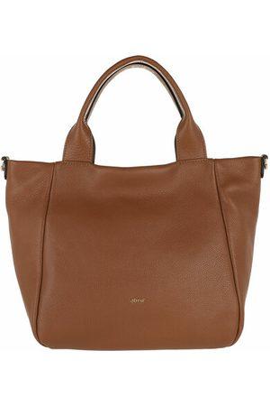 Abro+ Damen Handtaschen - Tote Bags Shopper KAIA small - in cognac - Henkeltasche für Damen