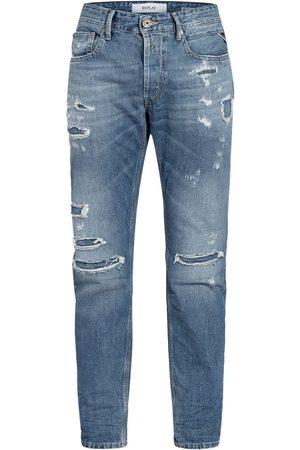 Replay Herren Slim - Destroyed Jeans Willbi Regular Slim Fit