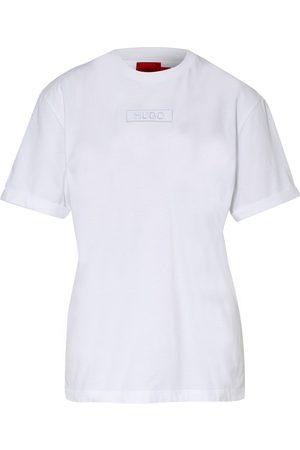 HUGO Damen Shirts - T-Shirt The Girlfriend weiss