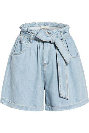 Rinascimento Damen Shorts - Paperbag-Shorts Aus Jeans