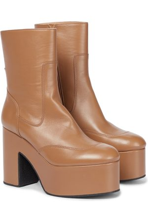 DRIES VAN NOTEN Plateau-Ankle Boots aus Leder