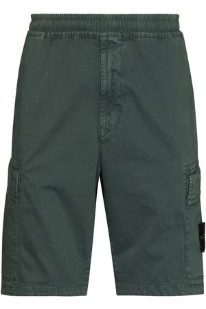 Stone Island Herren Shorts - Logo-patch cargo shorts