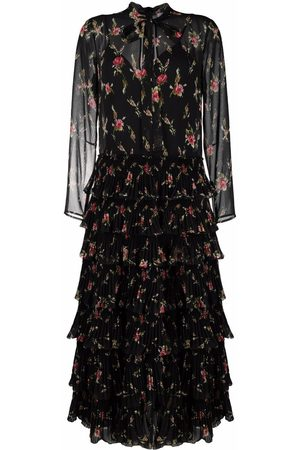 RED Valentino Floral-print tiered dress