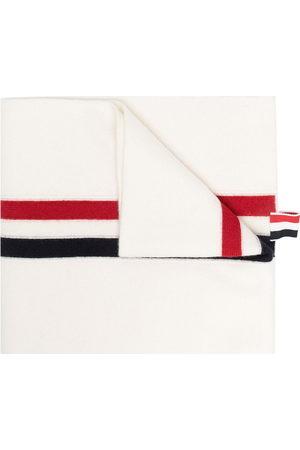 Thom Browne Herren Schals - RWB stripe wool scarf