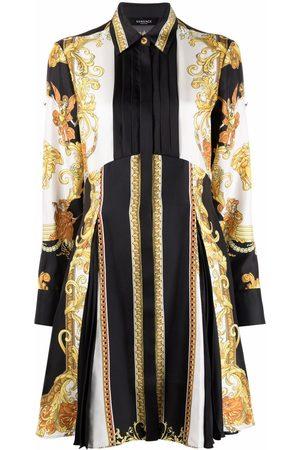 VERSACE Baroque-pattern print long-sleeve dress