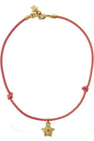 VERSACE Herren Halsketten - Leder-halskette Mit Medusa