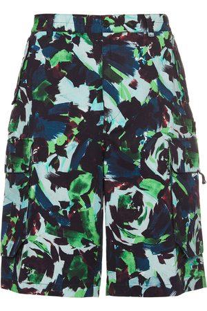 Kenzo Bedruckte Cargo-shorts Aus Baumwolle