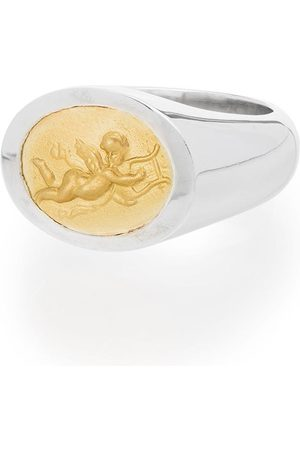 Shola Branson Sterling silver and 14kt gold Cupid ring