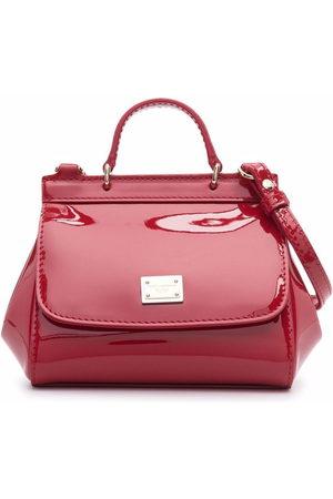 Dolce & Gabbana Mädchen Umhängetaschen - Patent-leather crossbody bag